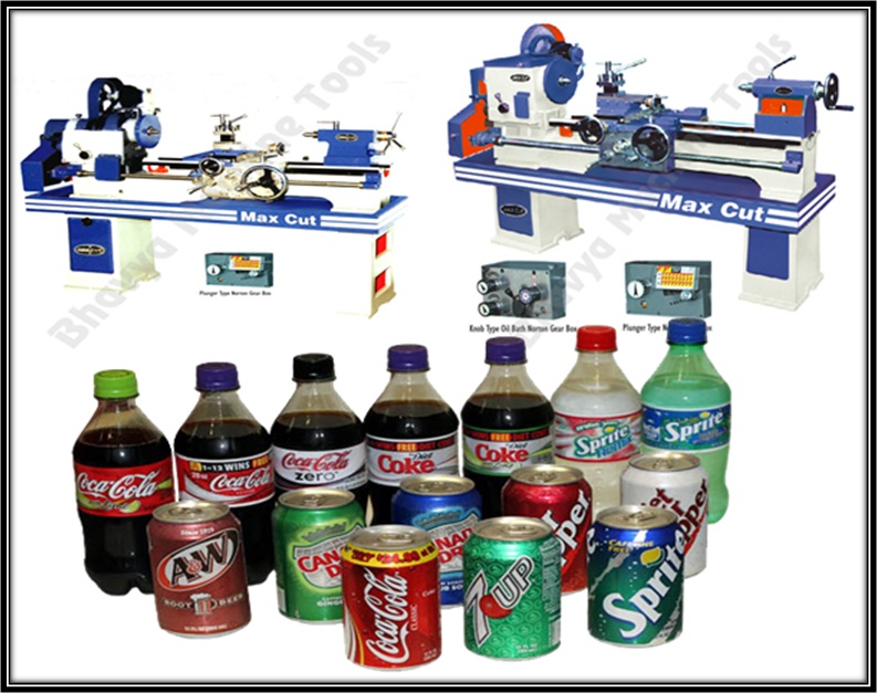 Lathe in Soft Drink Processing