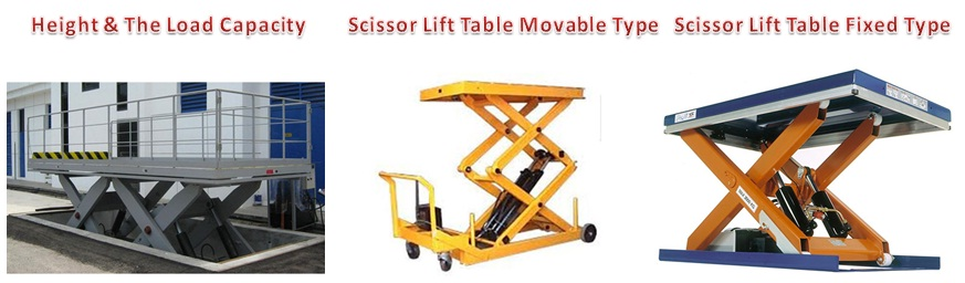 Scissor Lift Table Fixed Type